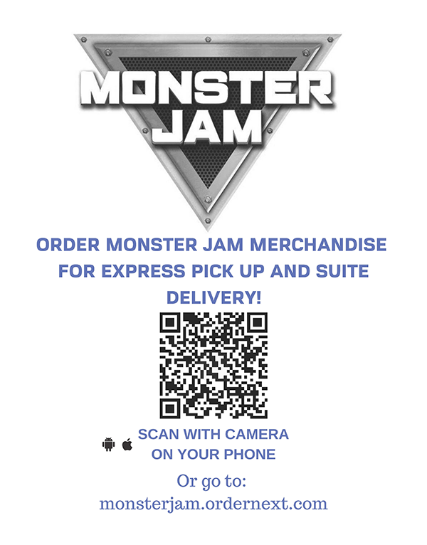 Order Monster Jam Merchandise with your phone camera
