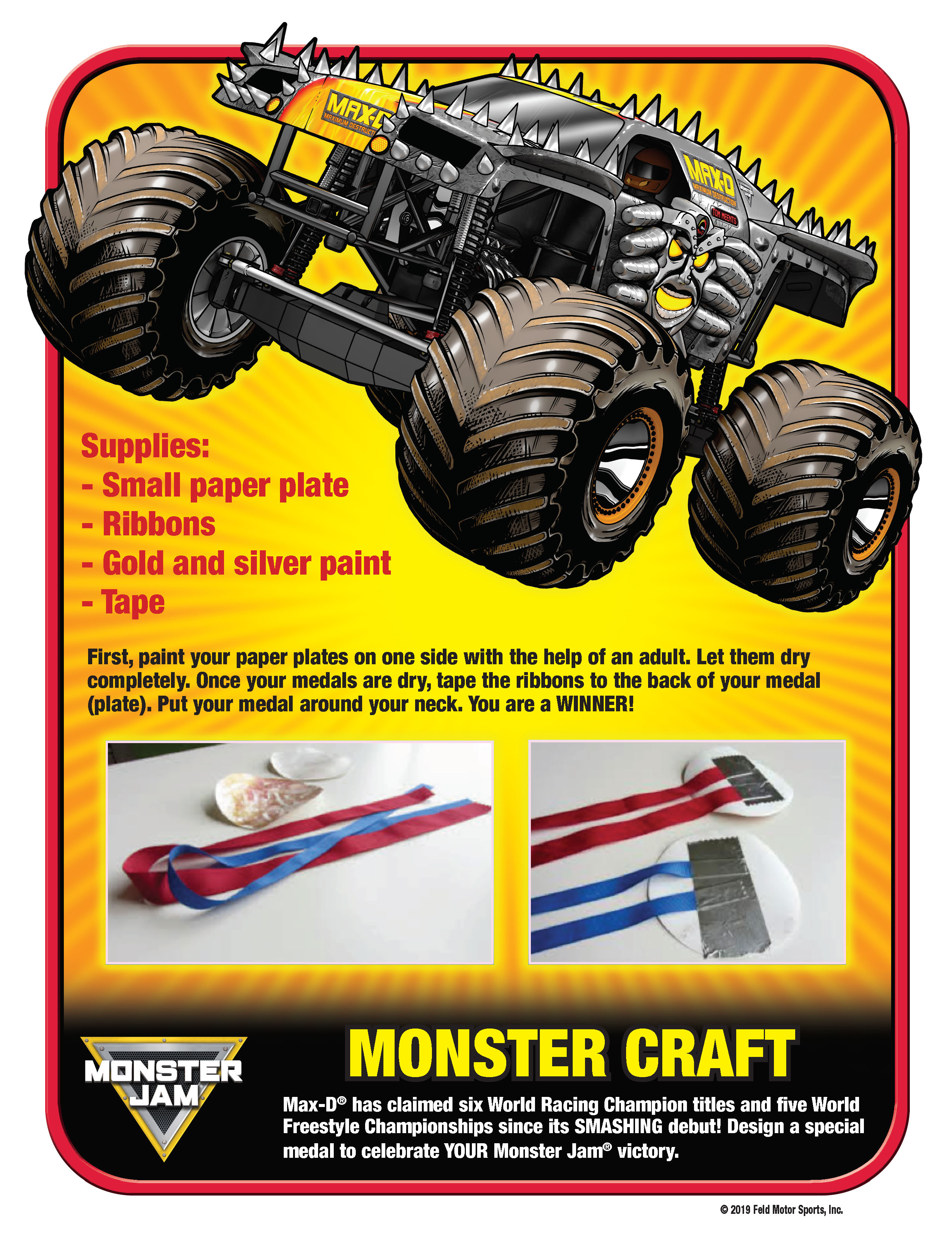 BUILD YOUR OWN MONSTER JAM MEDAL