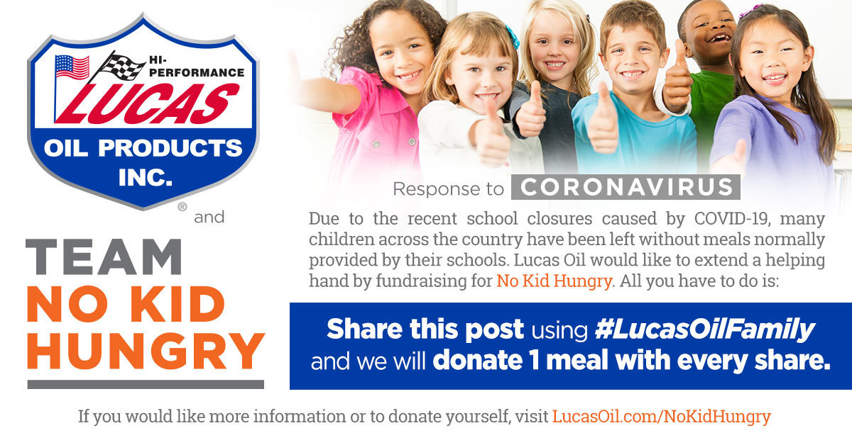 Lucas Oil - Team No Kid Hungry