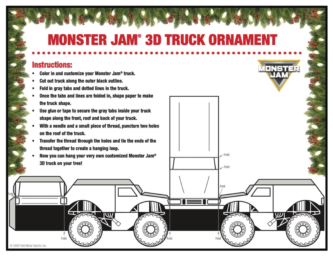 Holiday Holiday Truck Ornaments