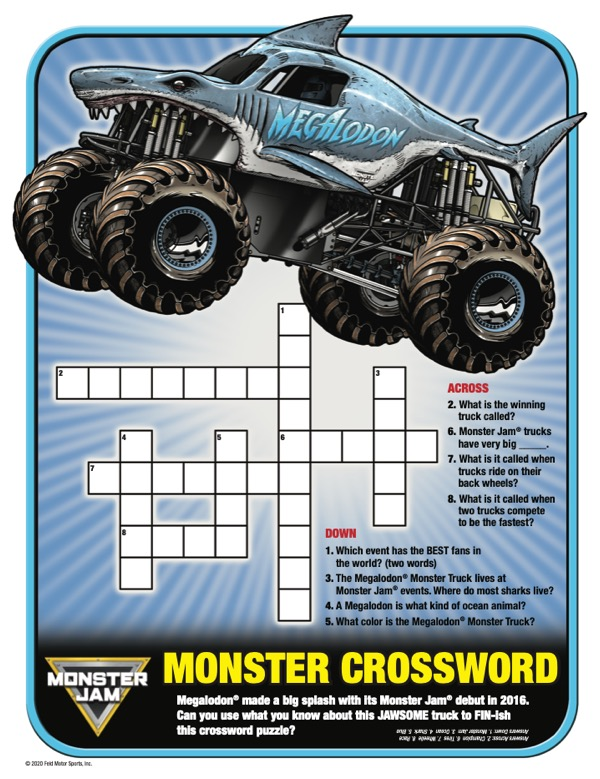 MONSTER CROSSWORD