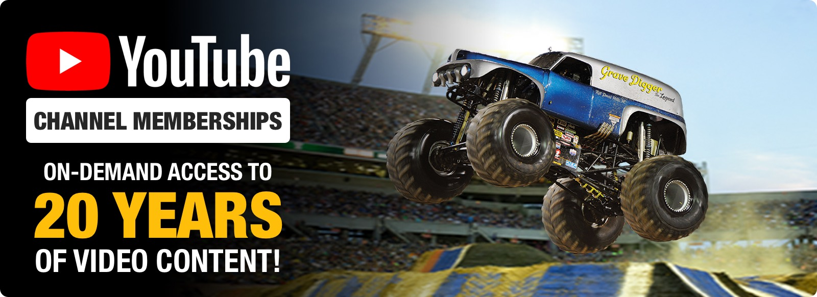 MONSTER JAM YOUTUBE CHANNEL MEMBERSHIPS