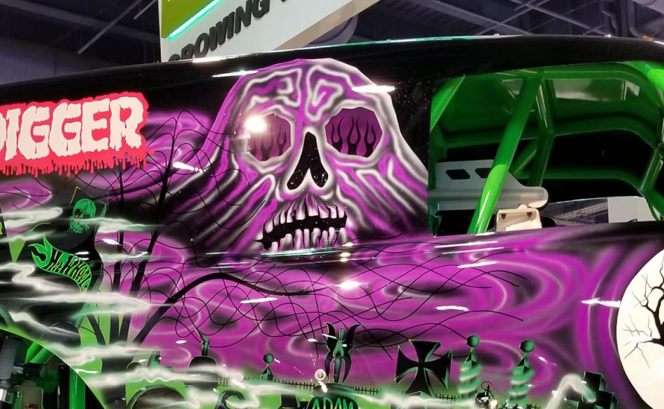 Monster Jam Las Vegas >> Grave Digger at SEMA   Monster Jam