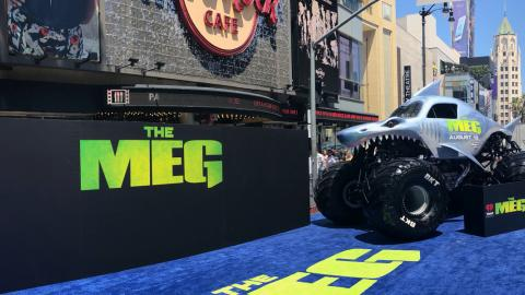 Megalodon at The MEG Movie Premiere