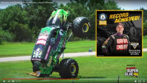 MAKE IT 8 GUINNESS WORLD RECORDS FOR MONSTER JAM!
