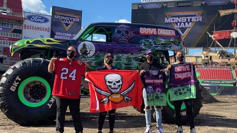Monster Jam Grave Diggers Meet the Buccaneers Grave Diggers