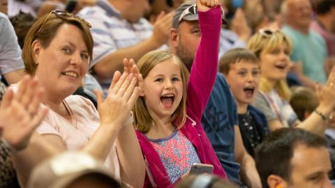Fans Cheering Monster Jam Cardiff