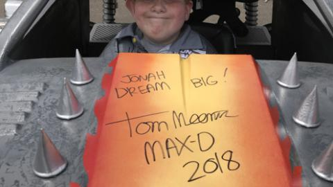 Jonah gets his Max-D autographed