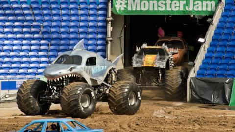 Here come the Monster Jam Trucks - Photo by Michael Gottschalk