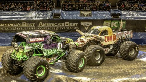 Grave Digger and Zombie - Photo by Jen Bay