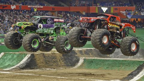 Monster Jam Racing - Photo by Dave DeAngelis