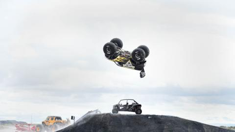 Todd LeDuc forward momentum flip. Photo by Fred Hayes - Courtesy Discovery
