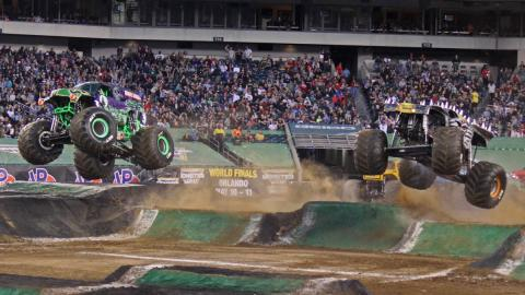Grave Digger vs. Max-D - Photo by Dustin Parks