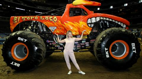 Beverley Mitchell Monster Jam LA