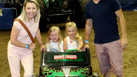 Beverley Mitchell and Family Monster Jam LA