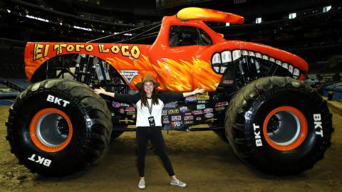 Tiffani Thiessen Monster Jam LA