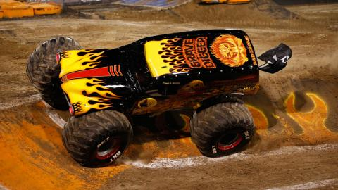 Grave Digger Fire - Photo by Eric Stern