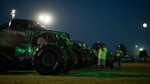 In the Monster Jam Pit  - Photo by Frank Branca