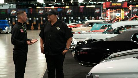 Morgan Kane and Dennis Anderson at Mecum Auctions