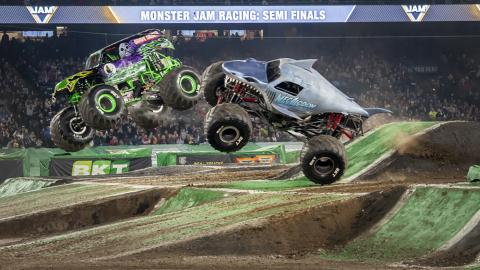 Monster Jam racing - Photo by Susan Woolley 123EventPhotography.com