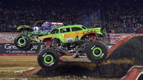 Monster Jam racing - Photo by Kenny Lau