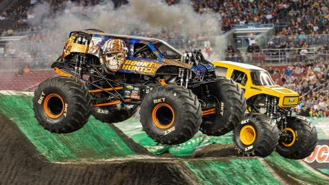 Monster Jam racing - Photo by Eric Stern